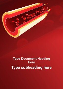 Blood Flow Word Template, Cover Page, 09401, Medical — PoweredTemplate.com