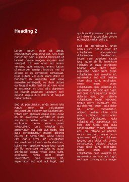 Blood Flow Word Template, Second Inner Page, 09401, Medical — PoweredTemplate.com