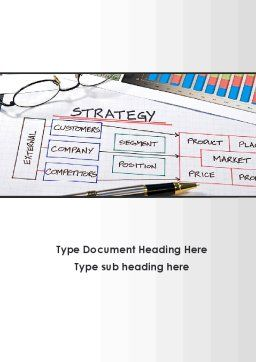 Strategic Marketing Planning Word Template, Cover Page, 09404, Consulting — PoweredTemplate.com