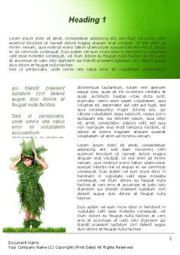 Green Life Word Template, First Inner Page, 09405, Nature & Environment — PoweredTemplate.com
