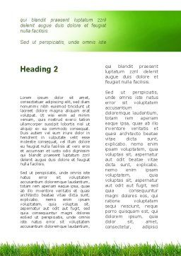 Green Life Word Template, Second Inner Page, 09405, Nature & Environment — PoweredTemplate.com