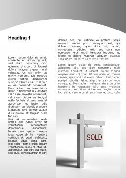Sold Real Estate Word Template, First Inner Page, 09409, Consulting — PoweredTemplate.com