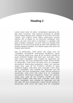 Sold Real Estate Word Template, Second Inner Page, 09409, Consulting — PoweredTemplate.com