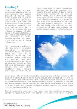 Heart In The Sky Word Template, First Inner Page, 09410, Religious/Spiritual — PoweredTemplate.com