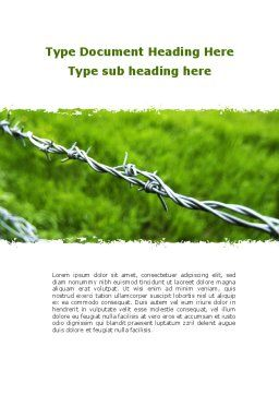 Barbed Wire Fence Word Template Cover Page