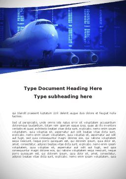 Jumbo Airliner Word Template, Cover Page, 09413, Cars/Transportation — PoweredTemplate.com
