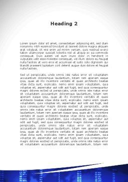 Jumbo Airliner Word Template, Second Inner Page, 09413, Cars/Transportation — PoweredTemplate.com