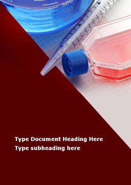 Lab Glassware Word Template, Cover Page, 09415, Medical — PoweredTemplate.com
