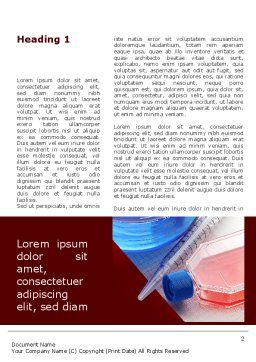 Lab Glassware Word Template, First Inner Page, 09415, Medical — PoweredTemplate.com
