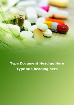 Medical Pills and Tablets Word Template, Cover Page, 09418, Medical — PoweredTemplate.com