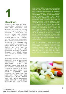 Medical Pills and Tablets Word Template, First Inner Page, 09418, Medical — PoweredTemplate.com