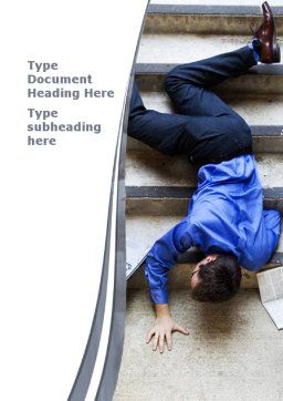 Falling Man Word Template, Cover Page, 09423, Consulting — PoweredTemplate.com