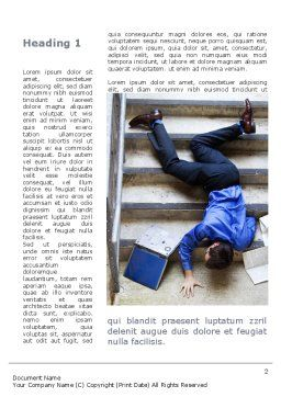 Falling Man Word Template, First Inner Page, 09423, Consulting — PoweredTemplate.com