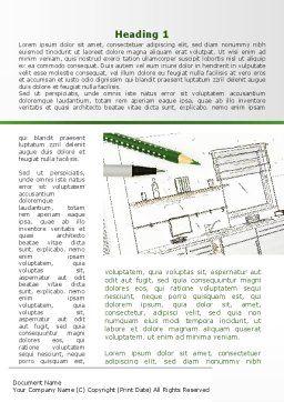 Kitchen Interior Design Word Template, First Inner Page, 09424, Construction — PoweredTemplate.com