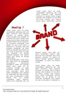 Brand Word Template, First Inner Page, 09425, Business — PoweredTemplate.com