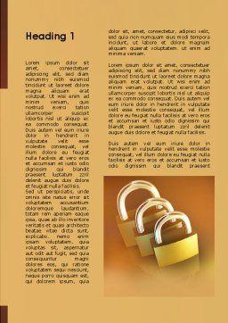 Brass Padlocks Word Template, First Inner Page, 09427, Construction — PoweredTemplate.com