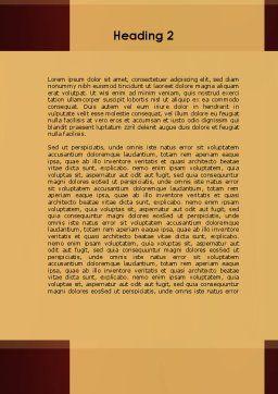 Brass Padlocks Word Template, Second Inner Page, 09427, Construction — PoweredTemplate.com