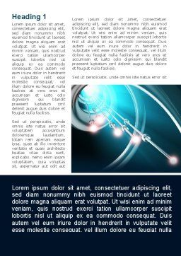 Aqua Blue Helix Word Template, First Inner Page, 09429, Technology, Science & Computers — PoweredTemplate.com