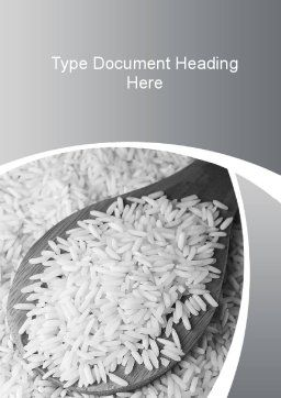 Grains Of White Rice Word Template Cover Page