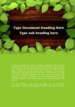 Forest Frame Word Template, Cover Page, 09432, Nature & Environment — PoweredTemplate.com