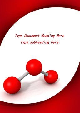 Molecular Triatomic Model Word Template, Cover Page, 09433, Consulting — PoweredTemplate.com