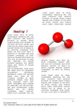 Molecular Triatomic Model Word Template, First Inner Page, 09433, Consulting — PoweredTemplate.com