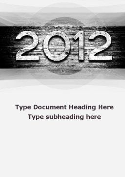 2012 Report Word Template, Cover Page, 09435, Global — PoweredTemplate.com
