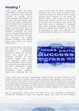 Success Ingredients In Business Word Template, First Inner Page, 09436, Business — PoweredTemplate.com