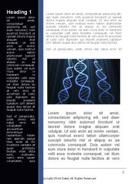 Deoxyribonucleic Acid Spiral Word Template, First Inner Page, 09437, Technology, Science & Computers — PoweredTemplate.com