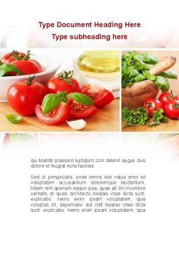 Sliced Tomatoes Word Template, Cover Page, 09438, Food & Beverage — PoweredTemplate.com