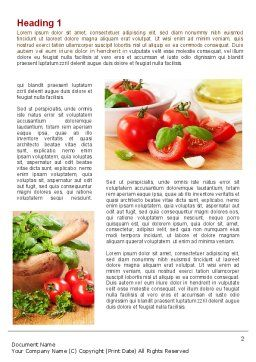 Sliced Tomatoes Word Template, First Inner Page, 09438, Food & Beverage — PoweredTemplate.com