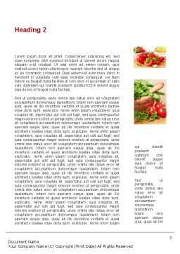 Sliced Tomatoes Word Template Second Inner Page