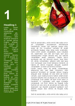 Red Winegrowing Word Template, First Inner Page, 09440, Food & Beverage — PoweredTemplate.com