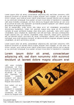 Tax Word Template, First Inner Page, 09445, Financial/Accounting — PoweredTemplate.com