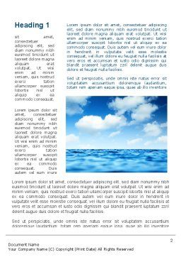 Sea Word Template First Inner Page