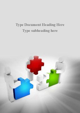 Completing The Puzzle Word Template, Cover Page, 09452, Consulting — PoweredTemplate.com