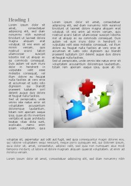 Completing The Puzzle Word Template, First Inner Page, 09452, Consulting — PoweredTemplate.com