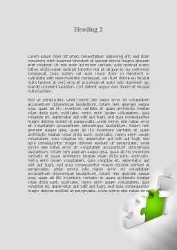 Completing The Puzzle Word Template, Second Inner Page, 09452, Consulting — PoweredTemplate.com