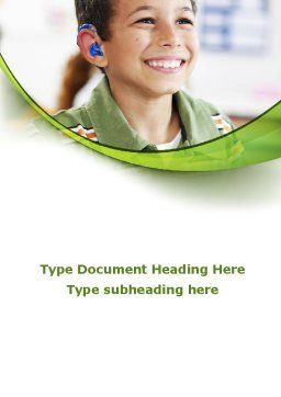 Hearing Aid Word Template Cover Page