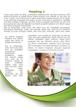Hearing Aid Word Template, First Inner Page, 09454, Education & Training — PoweredTemplate.com