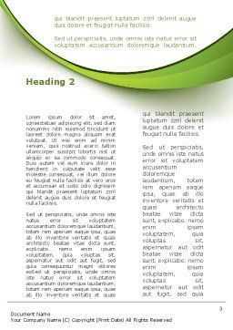 Hearing Aid Word Template, Second Inner Page, 09454, Education & Training — PoweredTemplate.com