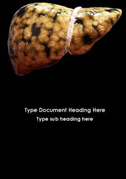 Nonalcoholic Fatty Liver Disease Word Template, Cover Page, 09457, Medical — PoweredTemplate.com