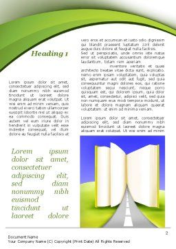Road to Knowledge Country Word Template First Inner Page