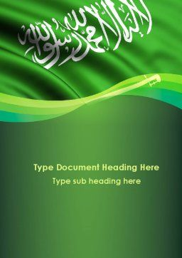 The Green Banner Of The Prophet Muhammad Word Template, Cover Page, 09461, Flags/International — PoweredTemplate.com