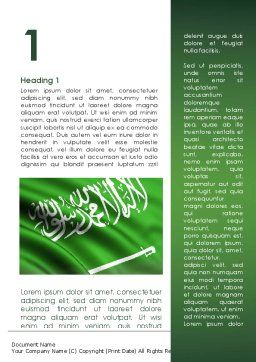 The Green Banner Of The Prophet Muhammad Word Template First Inner Page
