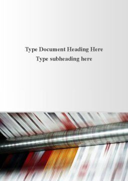 Printing House Word Template, Cover Page, 09465, Careers/Industry — PoweredTemplate.com