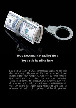 Arrested Criminal Money Word Template, Cover Page, 09466, Financial/Accounting — PoweredTemplate.com