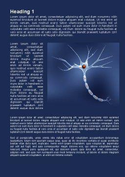 Blood Coagulation Word Template, First Inner Page, 09468, Medical — PoweredTemplate.com