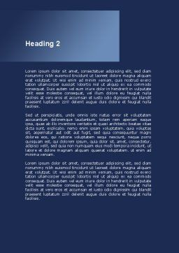 Blood Coagulation Word Template, Second Inner Page, 09468, Medical — PoweredTemplate.com