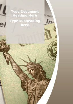Individual Income Taxes Return Word Template, Cover Page, 09470, Legal — PoweredTemplate.com